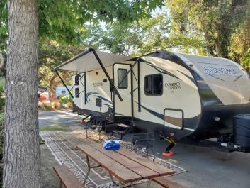 San Diego Bunkhouse Travel Trailer Delivered to Your Campsite