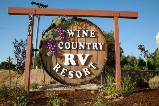 Wine tasting in an RV Resort! RV delivered, Set up and ready for your arrival.
