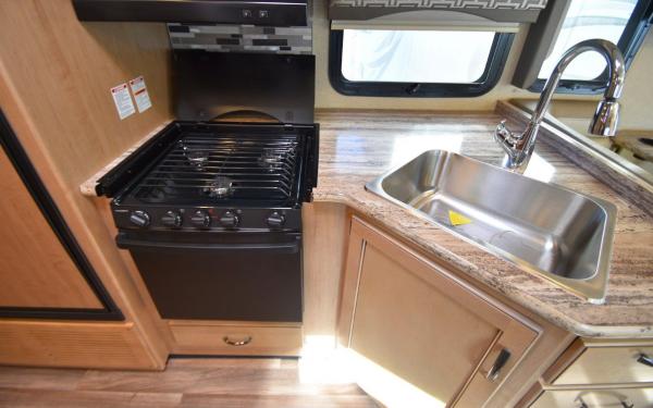 Full kitchen with gas range