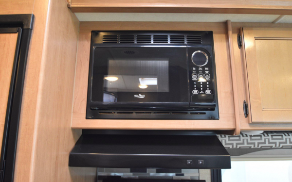 Microwave in full kitchen