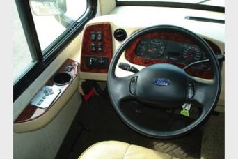 Easy reach steering controls and plenty of leg room
