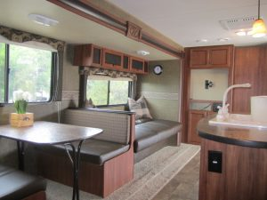 Living area of recreational vehicle