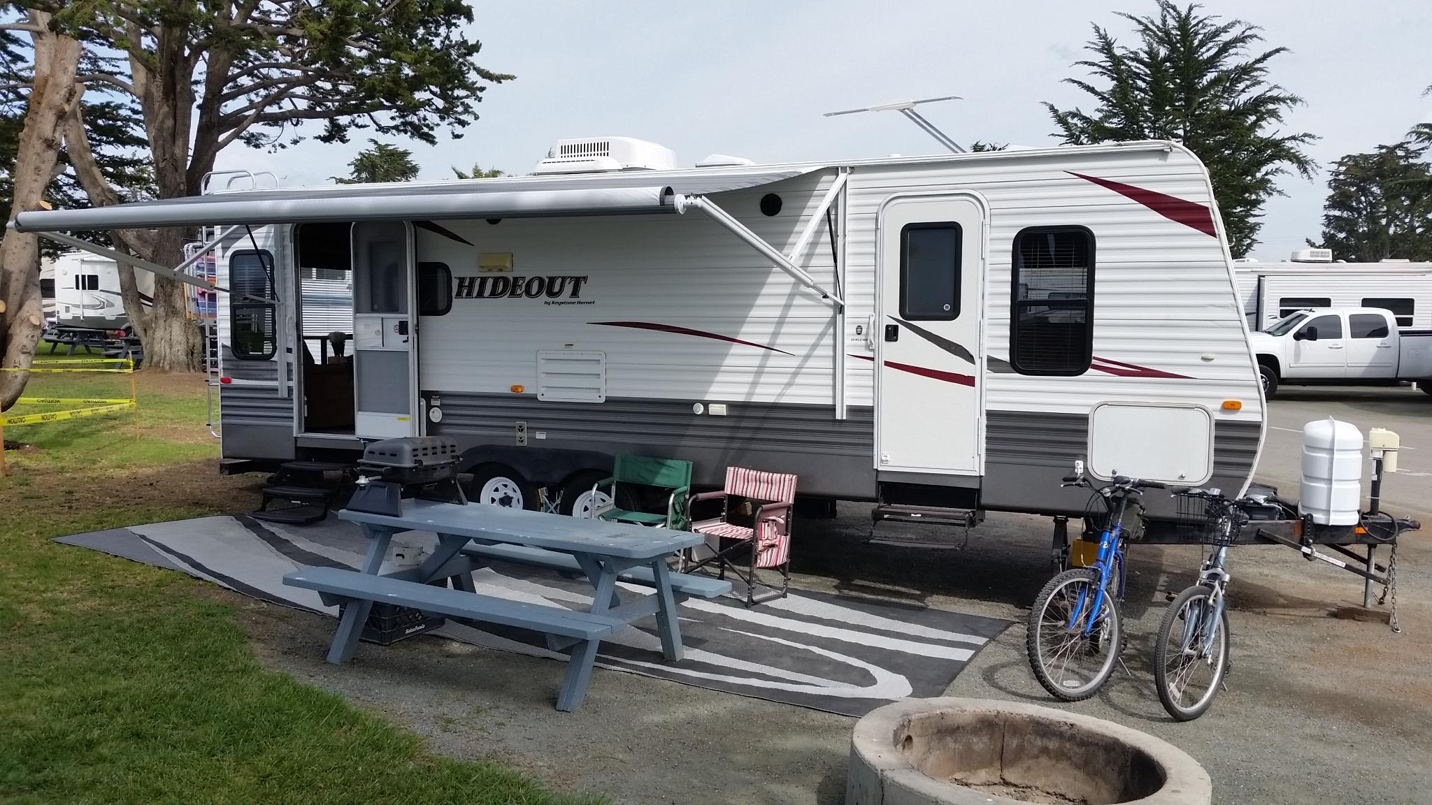 RV Rental set up at Pismo Coast Village