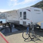 RV Rental set up at beach
