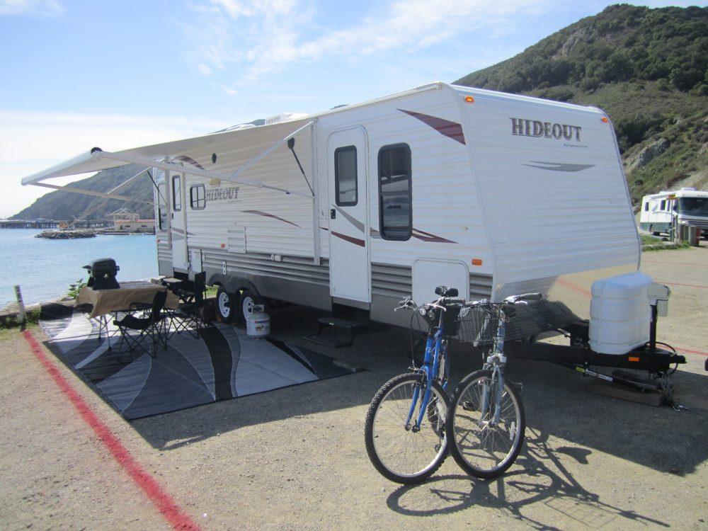 RV Rental set up at beach