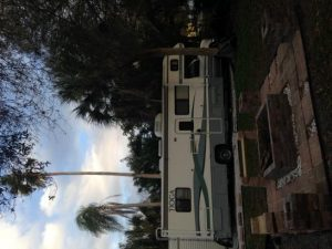 Dark photo of motorhome uploaded to featured RV listing sideways