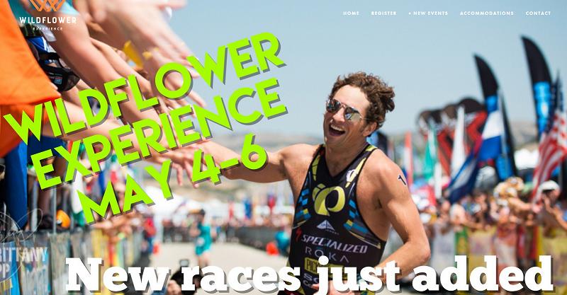 Front page of Wildflower Triathlon website