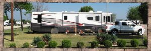 RV rental set up for family reunion