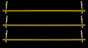 set of three hanging shelves