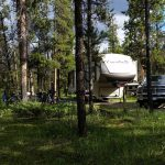 RV Set up at a campground