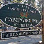 Campground by the lake Tahoe