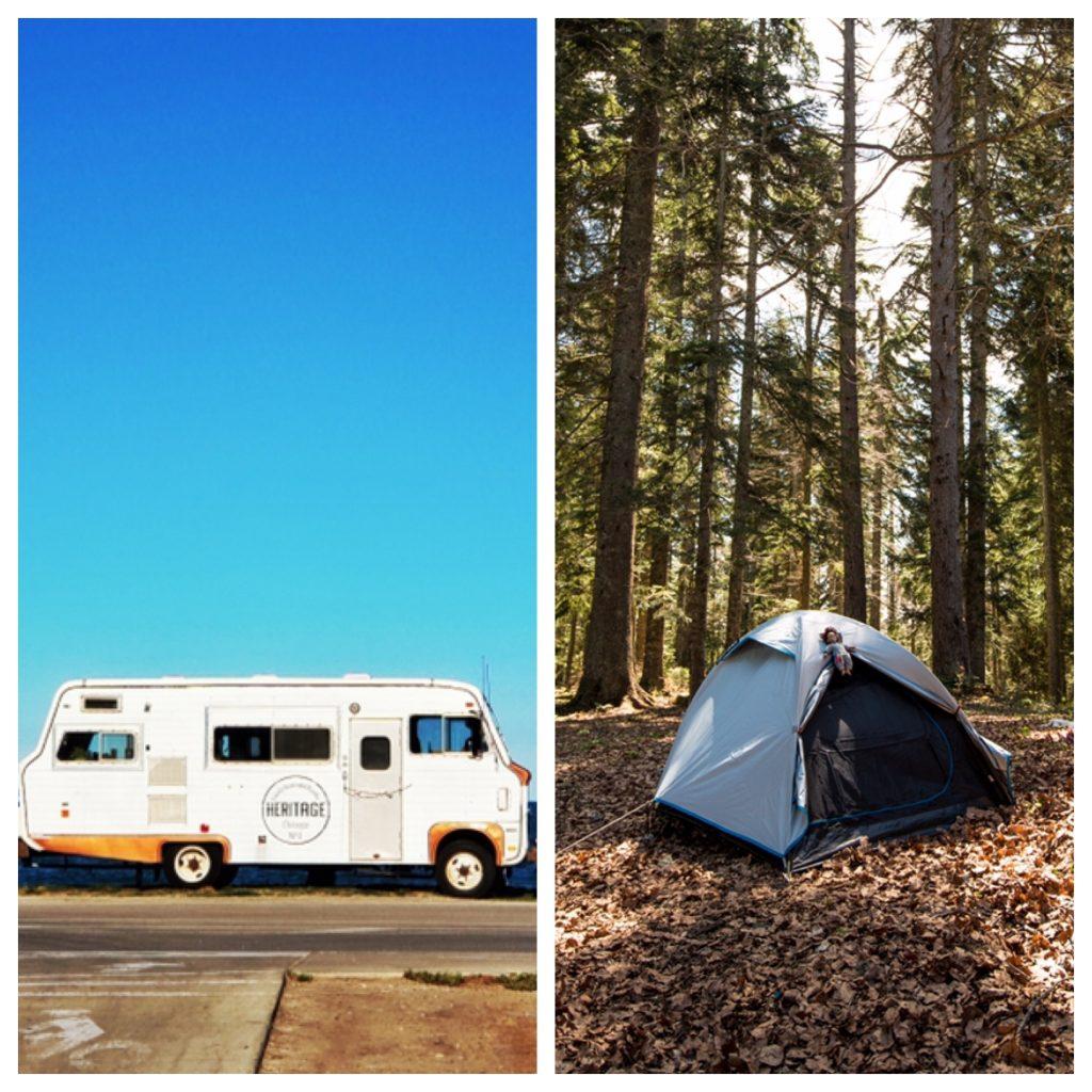 RV Camping vs Tent Camping