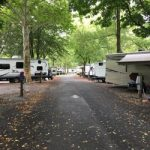 Hershey Park campground resort view of RV's on campsites