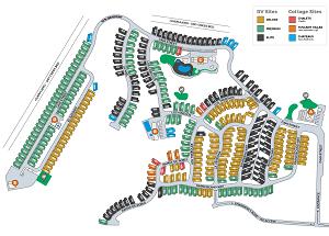 Cava Robles RV Resort Map