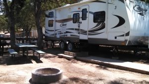 RV rental delivered to a campground