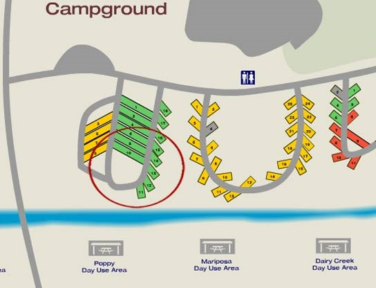 El Chorro Regional Campground Map