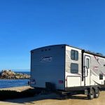 RV in front of beach