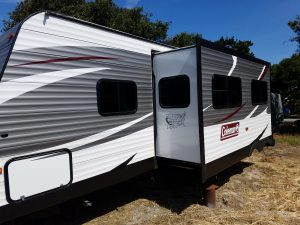 RV rental delivered to Monterey, California