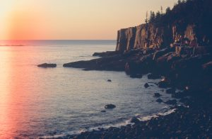View from Otter Cliff in Acadia National Park, Maine