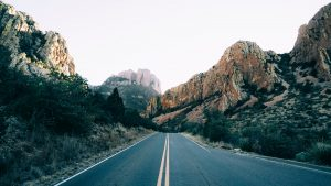 open road in Big Bend National Park