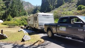Travel trailer with Tow truck