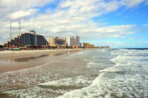 buildings and shoreline in Daytona Beach, Florida