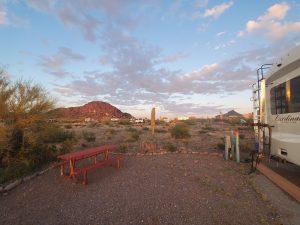 Desert RV campground