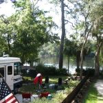 Yellow Jacket RV Park Campsite #4 looking at River