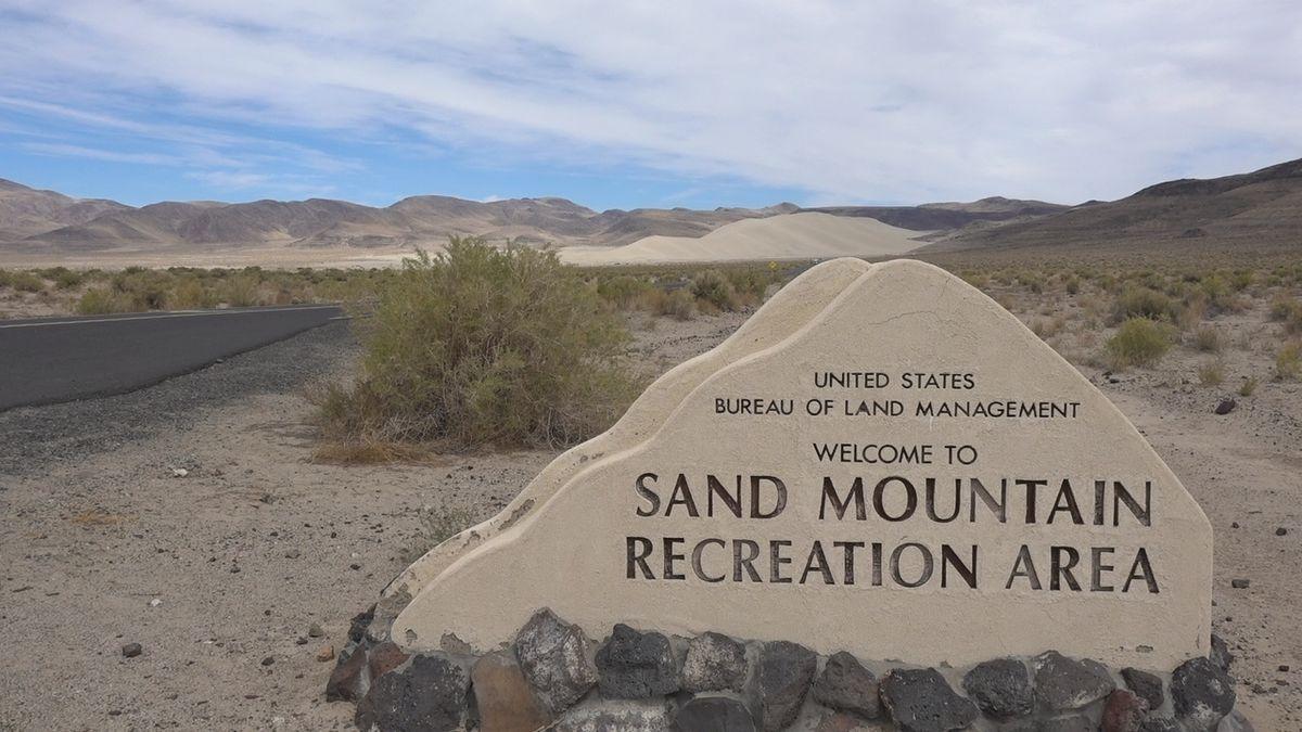 Sand Mountain Recreation Area - BLM Sign