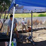 Retaining wall for RV Pad