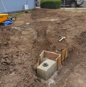 RV pad Sewer connection at home